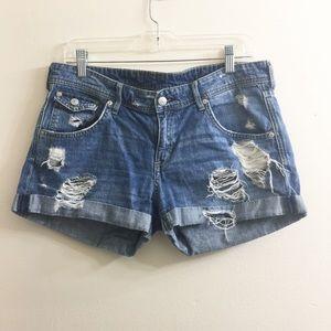 H&M's distressed denim shorts size 10